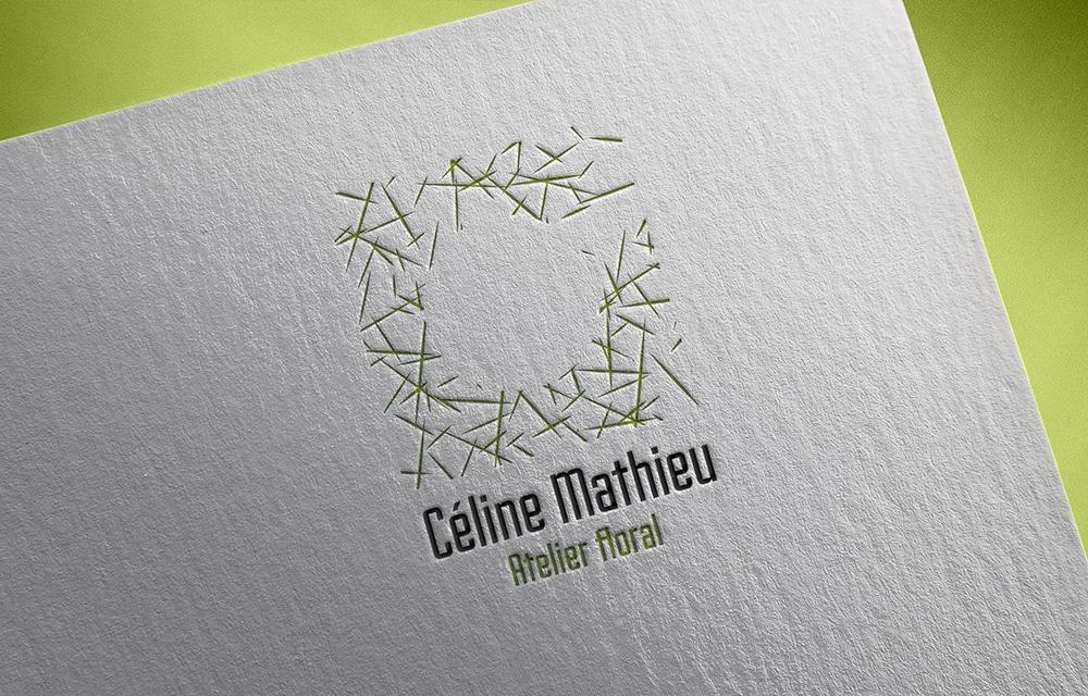Creation logo Sélestat | Céline Mathieu - Artiste florale en alsace